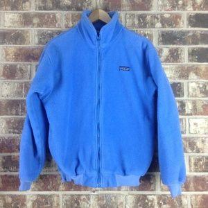 Patagonia VTG Baby Light Blue Fleece Zip Up Jacket